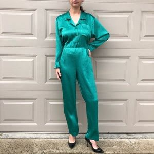 VINTAGE | 80's green jumpsuit